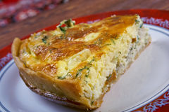 Quiche with halibut Royalty Free Stock Photo
