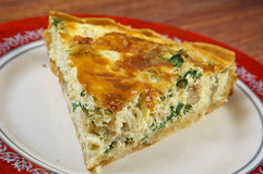 Quiche with halibut Stock Photo