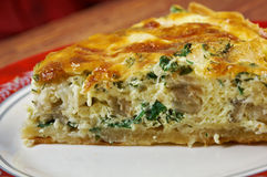 Quiche with halibut Stock Image