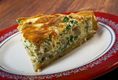 Quiche with halibut Royalty Free Stock Images