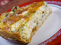 Quiche with halibut Royalty Free Stock Image