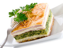 Quiche with ham cheese Stock Images