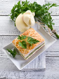Quiche with ham cheese Stock Image