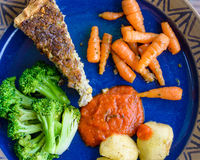 Quiche i warzywa Obrazy Stock