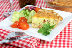 Quiche Lorraine And Salad Royalty Free Stock Image