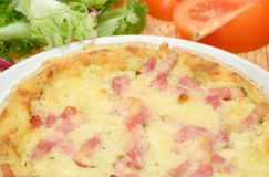Quiche Lorraine - Cheese and bacon Royalty Free Stock Images