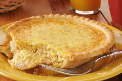Quiche Lorraine Closeup Stock Photos