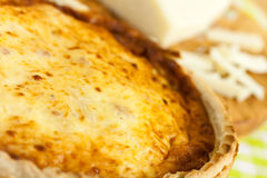Quiche Lorraine on the cutting board Royalty Free Stock Photo