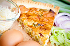 Quiche Lorraine ingredients Royalty Free Stock Image