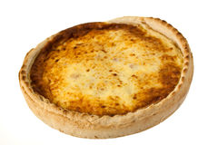 Quiche Lorraine,isolated on white Stock Photography