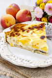 Quiche Lorraine with peaches Royalty Free Stock Photography