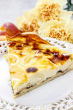 Quiche Lorraine with peaches Royalty Free Stock Photos