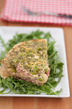 Quiche Lorraine with peas Royalty Free Stock Photography