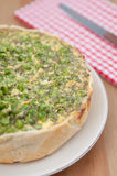 Quiche Lorraine with peas Stock Photography