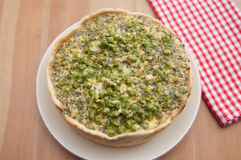 Quiche Lorraine with peas Royalty Free Stock Photos