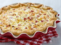 Quiche lorraine Stock Photo
