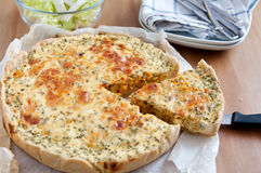 Quiche Lorraine with Pumpkin Royalty Free Stock Image