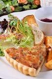 Quiche lorraine slice                                            Salty fried chicken Stock Images