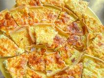 Quiche Lorraine - tarte français traditionnel Images libres de droits