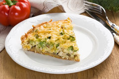 Quiche pie Stock Photography