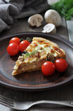 Quiche pie with chicken Royalty Free Stock Photography