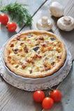 Quiche pie with chicken Stock Photo