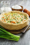 Quiche pie with fish and nettles Royalty Free Stock Photography