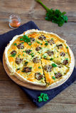 Quiche pie with mushrooms Royalty Free Stock Images