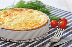 Quiche pie with spinach and cheese Stock Image
