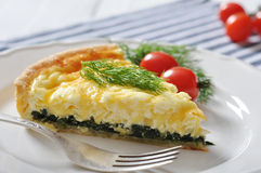 Quiche pie with spinach Stock Photo