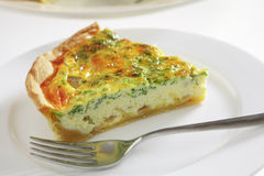 Quiche on a plate Stock Photos