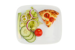 Quiche on a plate Royalty Free Stock Image