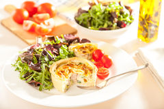 Quiche Plate Table Setting Royalty Free Stock Photography