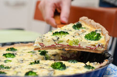 Quiche portion Royalty Free Stock Photos