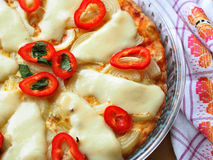 Quiche with red pepper Stock Photo