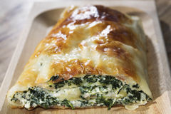 Quiche ricotta and spinach Royalty Free Stock Image
