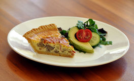 Quiche and salad Stock Photography