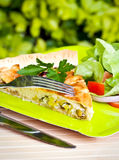 Quiche and a salad Stock Photography