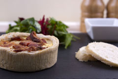 Quiche and salad Stock Images