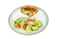 Quiche and salad Royalty Free Stock Images