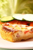 Quiche with salad  Royalty Free Stock Images