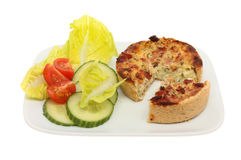 Quiche and salad Royalty Free Stock Photo