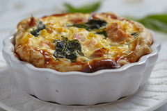 Quiche with salmon Royalty Free Stock Image
