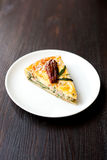 Quiche with salmon and sun-dried tomatoes Stock Photography
