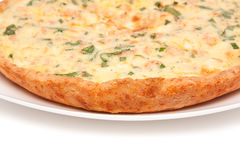 Quiche with shrimps Royalty Free Stock Photo