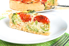 Quiche slice Stock Images