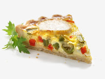 Quiche slice Royalty Free Stock Photos