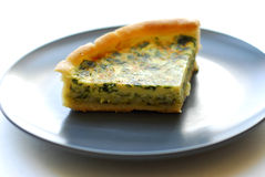 Quiche slice Stock Photography