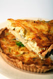 Quiche slice Stock Photo