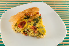 Quiche slice Royalty Free Stock Image